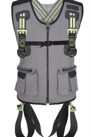 2 Point Full Body Harness With Multi Pocket Work Vest